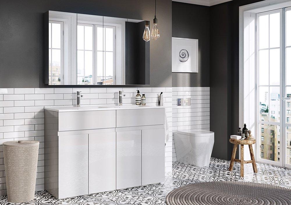 The simplest bathroom idea to create contrast