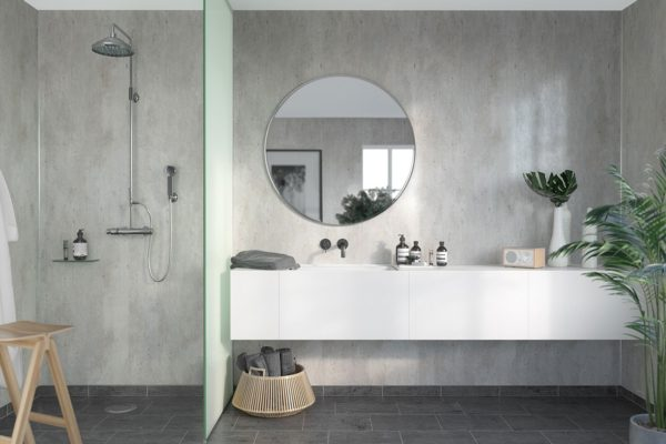 Bathroom Ideas - grey bathroom panels