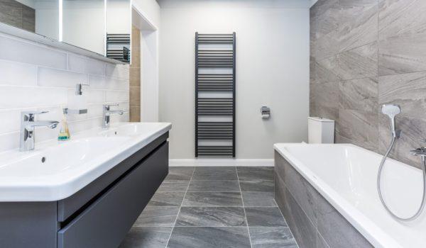 Bathroom Ideas - monochrome bathroom with grey tones