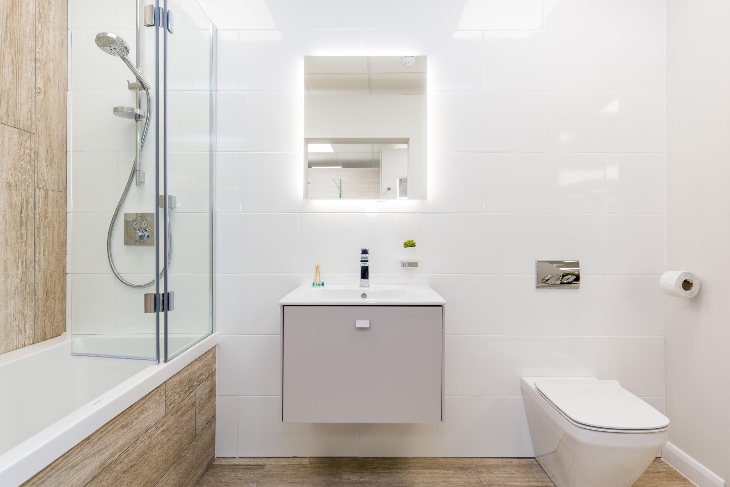 Sleek wall-hung vanity unit