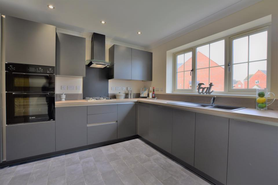 Chanceoptions home - grey kitchen with grey backsplash