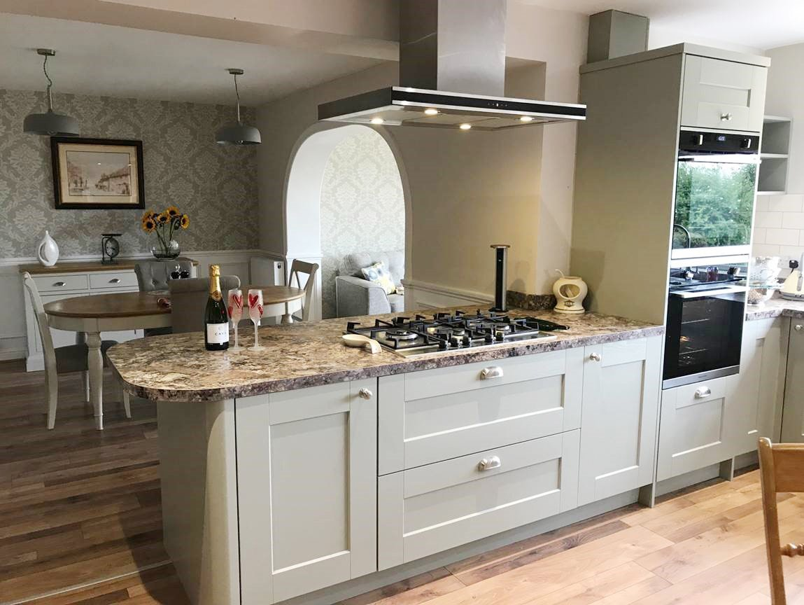 Country Kitchen with modern appliances