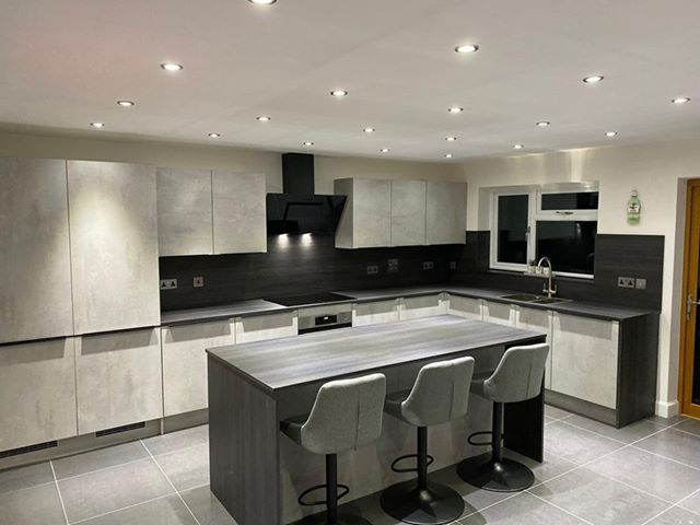 Grey kitchen - Symphony kitchen in Urban concrete