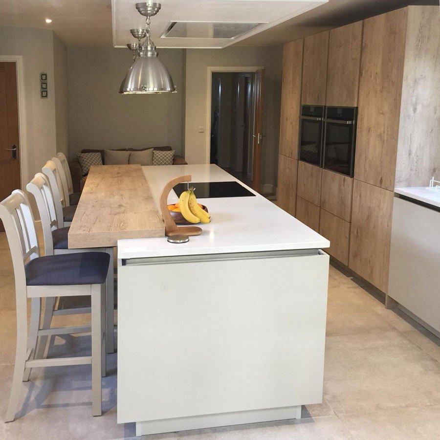 Modern two tone Rotpunkt kitchen