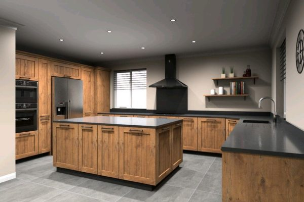Traditional Kitchen - realistic 3D design render