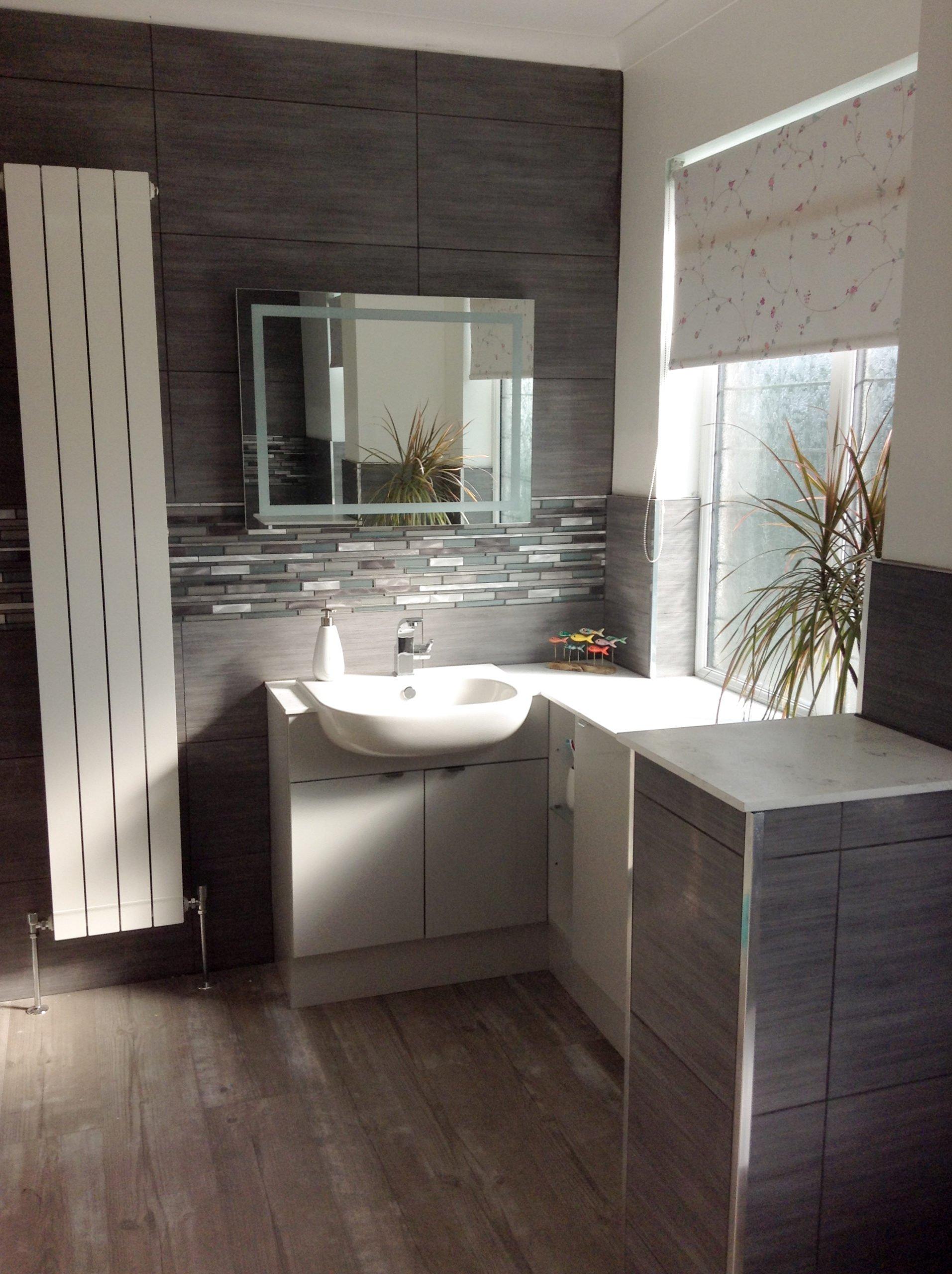 Contemporary bathroom transformation