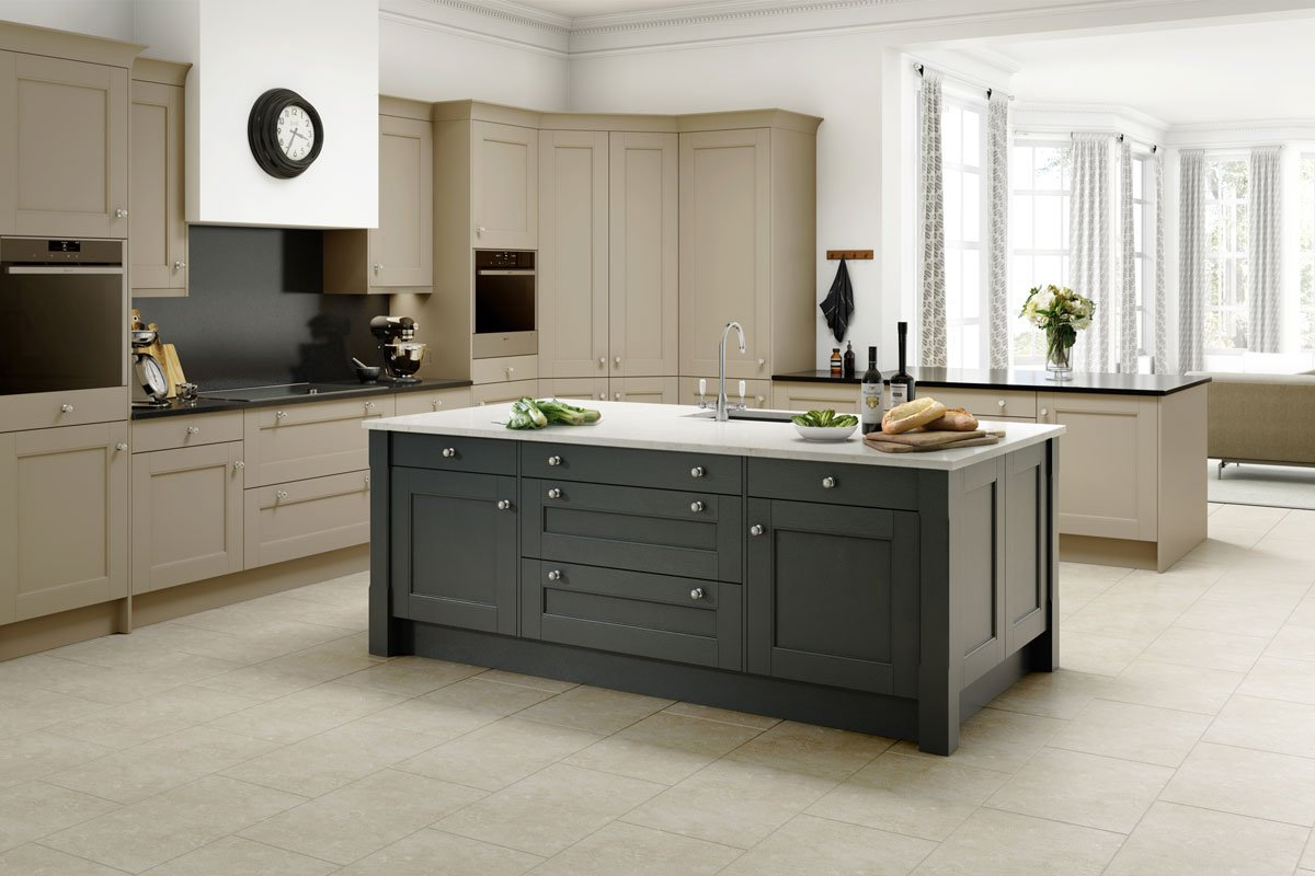 Great Kitchen Ideas -  Choose timeless neutrals and classic pewter handles