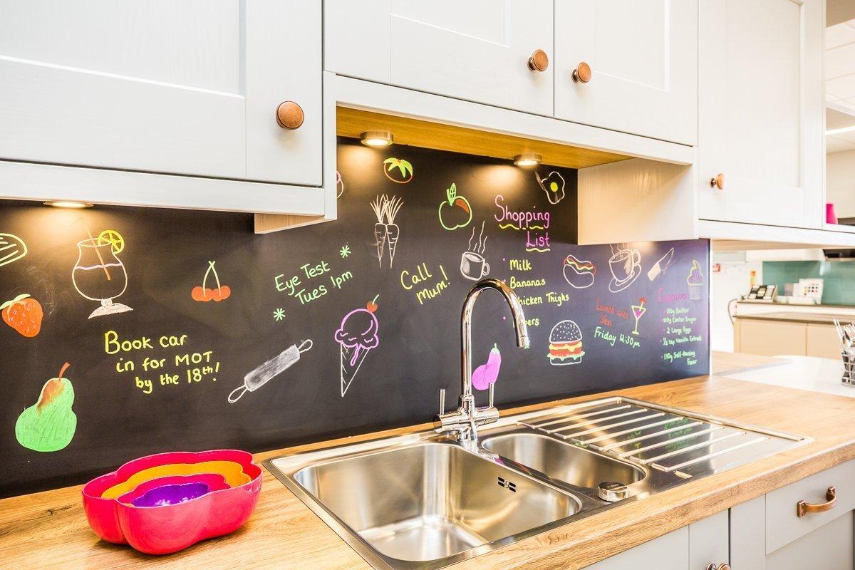 Blackboard splashbacks suit all kinds of kitchens