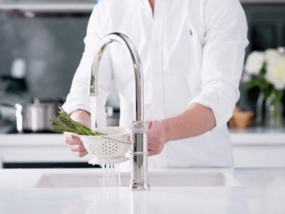 Quooker tap - handy in the kitchen for washing vegetables