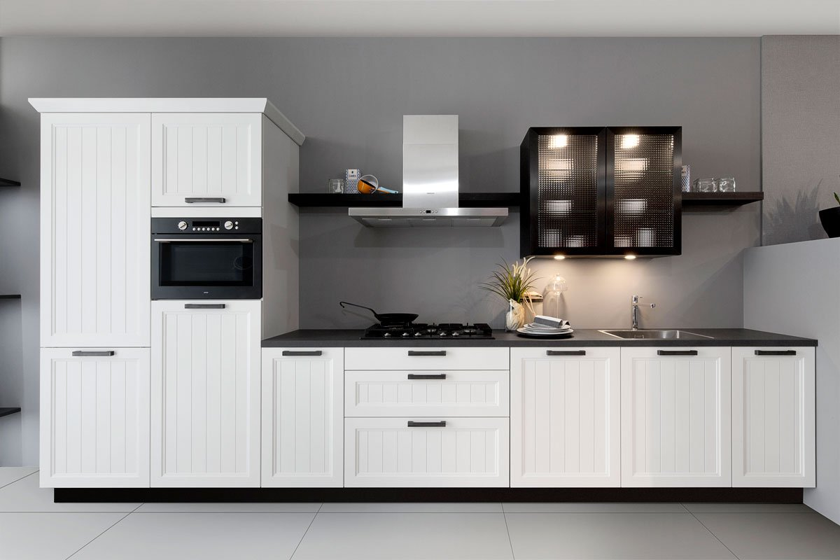 Combine classic white with contemporary black