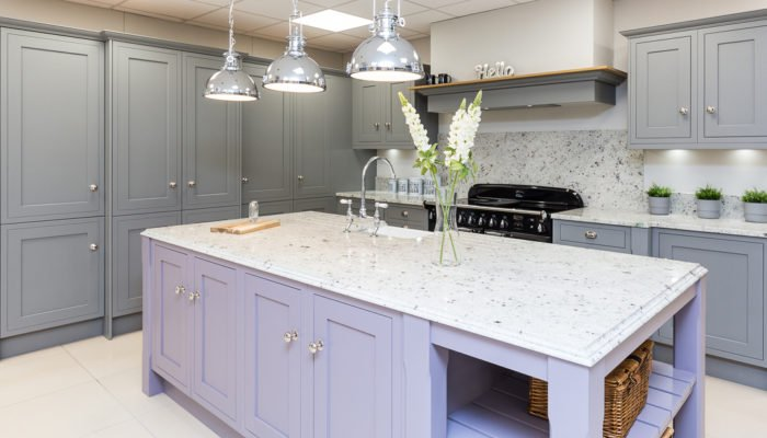 Traditional Kitchen - Shaker Kitchen painted in lilac and sage grey