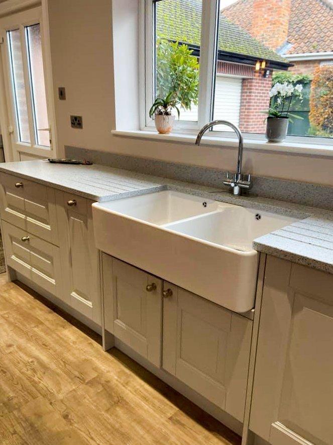 Double Belfast ceramic sink