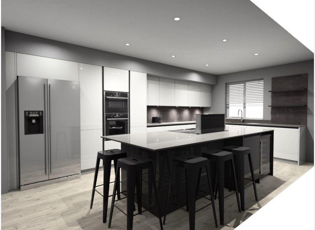 Rotpunkt Kitchen modern design in monochrome