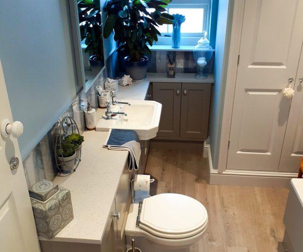 Stylish Roper Rhodes bathroom furniture in a small bathroom