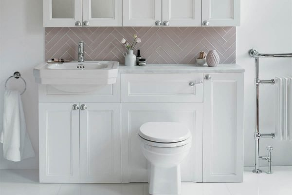 Combined WC and basin unit in a traditional bathroom - small bathroom ideas