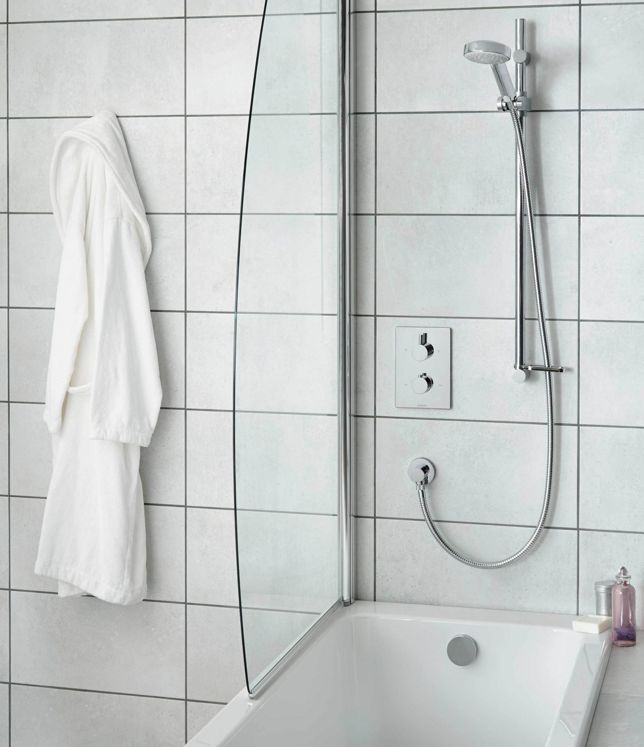 Get the best of both worlds with an over bath shower unit. Small Bathroom Ideas