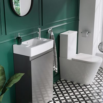 Narrow basins are popular in Cloakrooms and are a great small bathroom idea