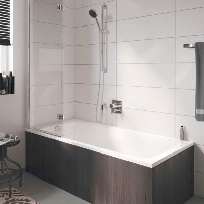 Bath and shower combos are a great idea in small bathrooms