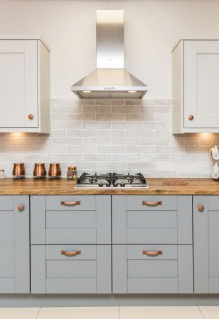 A classic kitchen idea for your space - wood and copper
