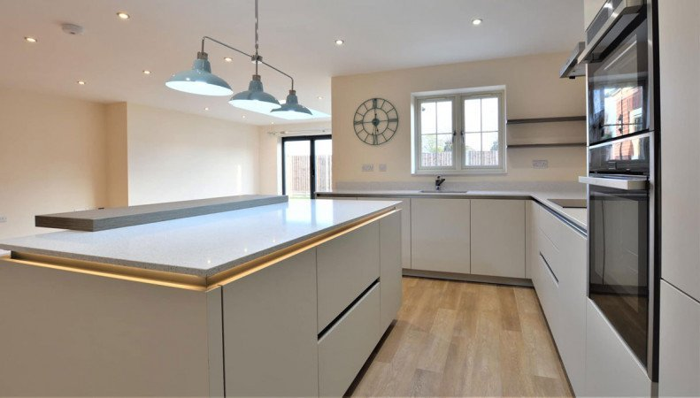 Recessed lighting to illuminate kitchens lacking natural light
